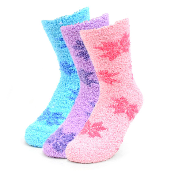 Women's Snowflakes Warm Fuzzy Socks