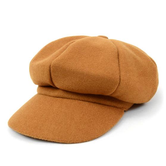 Women's Wool Beret Style Cabbie Baker Cap