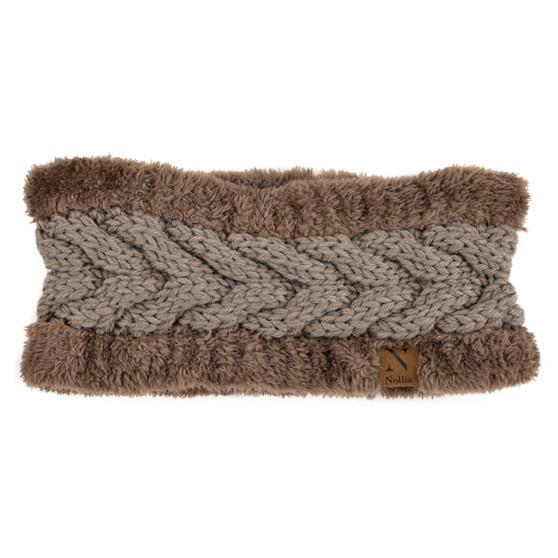 Women's Thick Fleece Lined Knit Winter Head Band