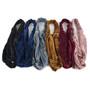 12pc Assorted Ladies Velvety Criss-Cross Solid Headbands