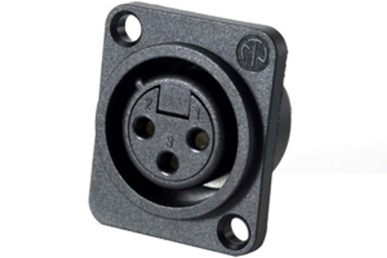 Neutrik NC3FPP D-Series Economy 3-Pin Female XLR Panel Mount Connector