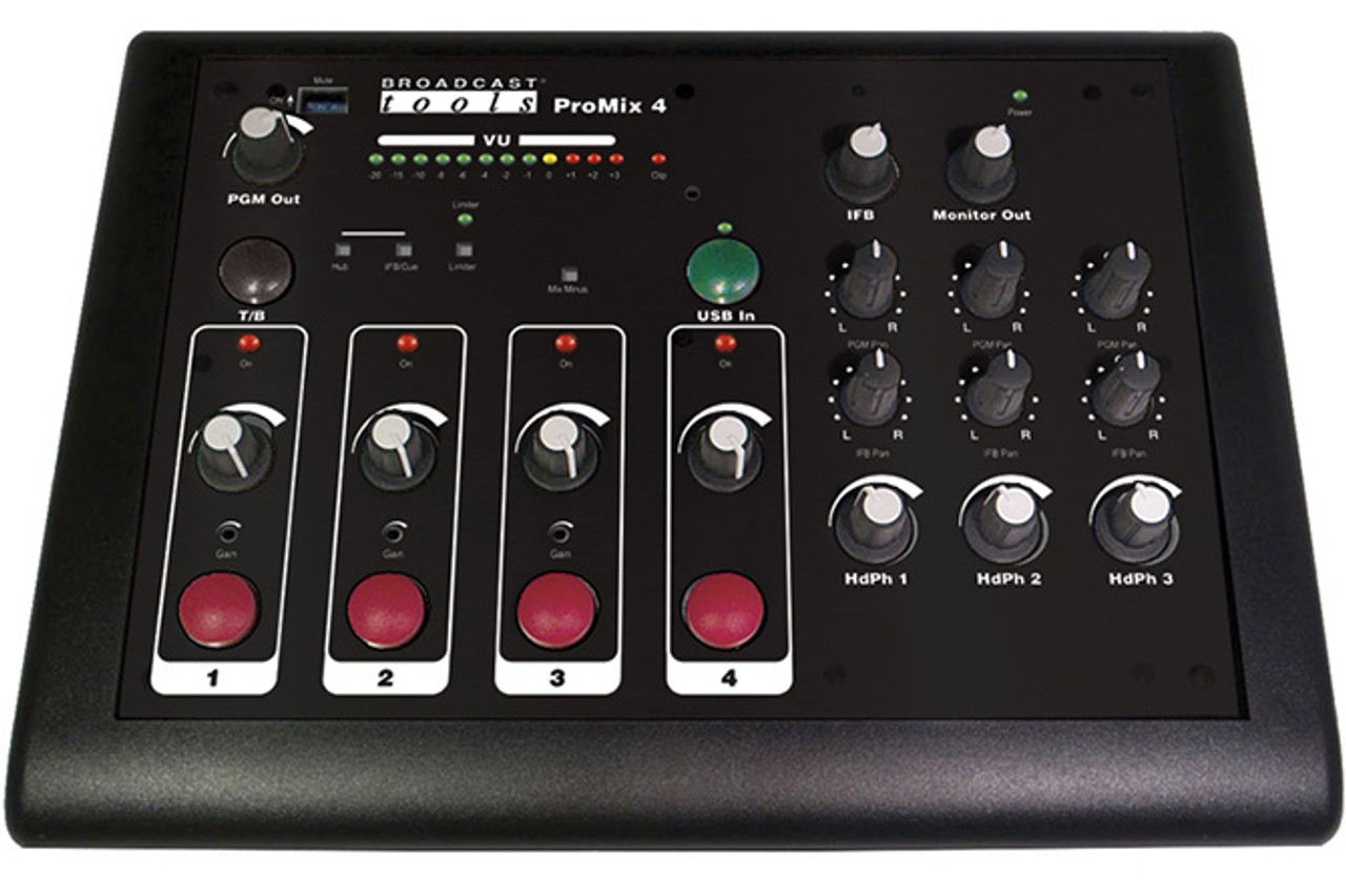 Broadcast Tools PROMIX 4 Compact Full Featured Audio Remote/Podcast Mixer