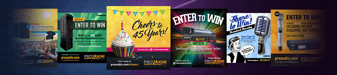 ProAudio.com Giveaway Hall of Fame
