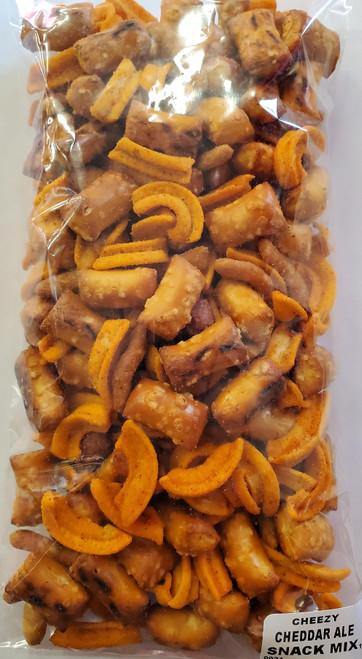 Cheesy Cheddar Ale Snack Mix