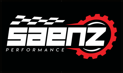 Saenz Performance Black Banner 5' x 3'