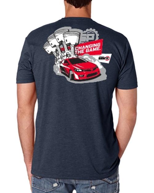 Saenz Performance Honda Logo Navy Blue T-Shirt