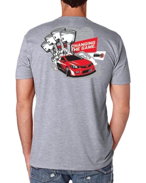 Saenz Performance Honda Logo Grey T-Shirt
