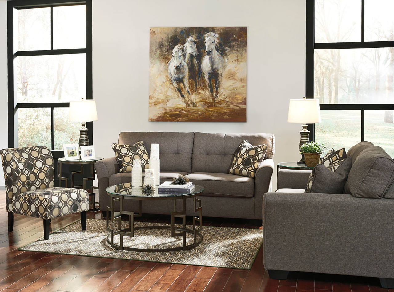 the tibbee slate sofa loveseat accent chair available at gibson