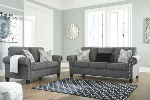 The Levon Charcoal Sofa Loveseat Available At Gibson Mcdonald
