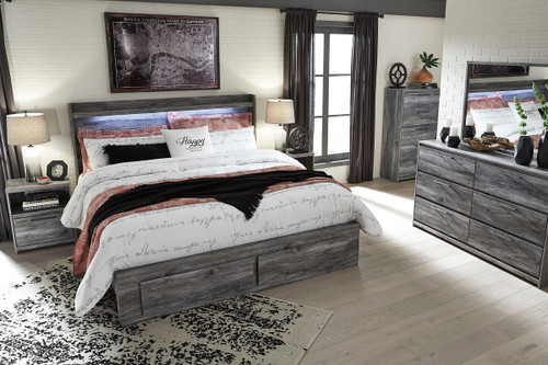 The Baystorm Gray King Panel Storage Bed Available At Gibson Mcdonald Serving Waycross Ga And