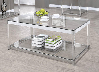 The Contemporary Chrome Coffee Table 720748 Available At Gibson Mcdonald Serving Waycross Ga And Surrounding Areas