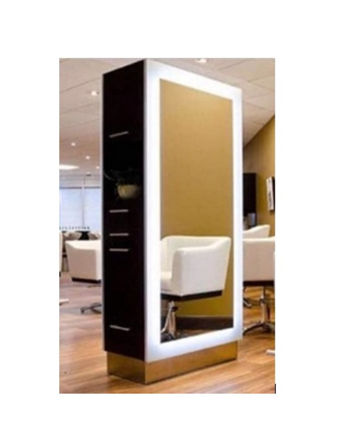 Maddox Double Sided LED Styling Station - Modern Black