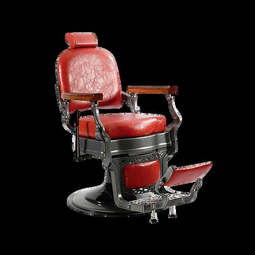 Gabriel Designer Vintage Barber Chair - Red