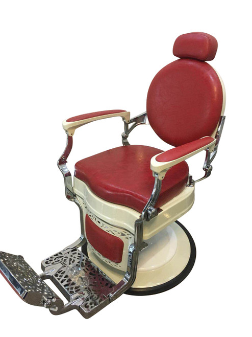 Lannister Premium Vintage Barber Chair - Red
