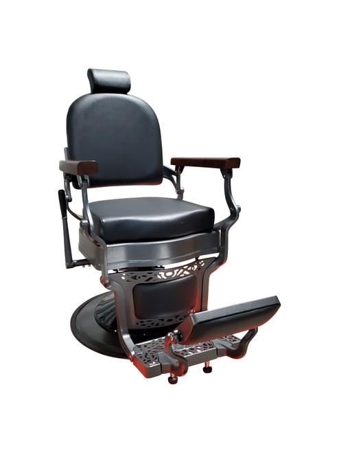 Gabriel Designer Vintage Barber Chair - Gunmetal