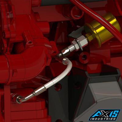 R2.8 Oil Pressure Sensor Kit. Show with aftermarket style sending units.