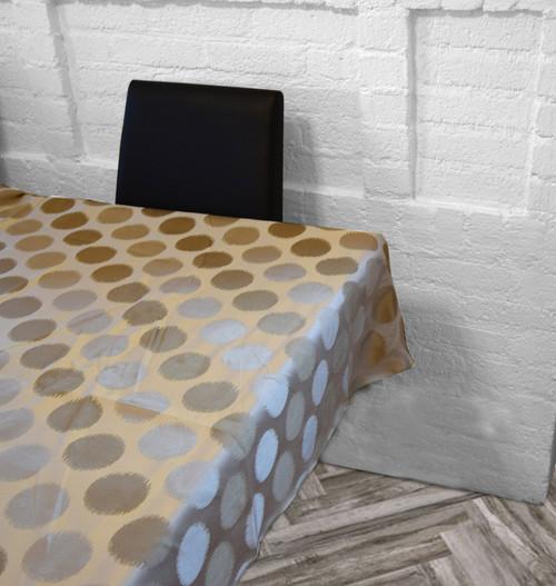 Circles Cream/Gold Tablecloth
