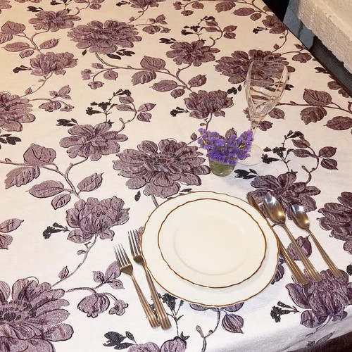 Blooms Tablecloth-Purple