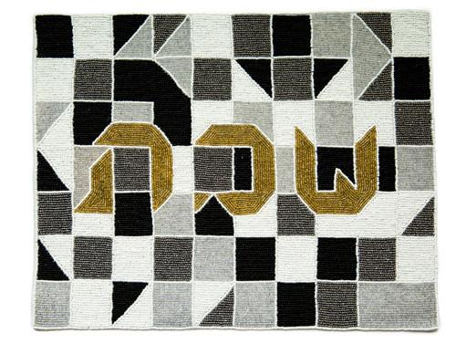 Beaded Challa Cover- Geometric Puzzle Bold