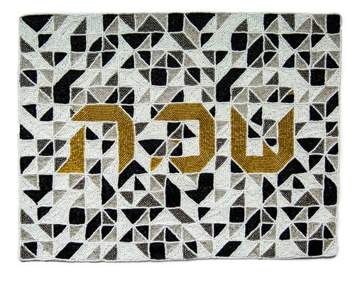Beaded Challa Cover- Geometric Puzzle