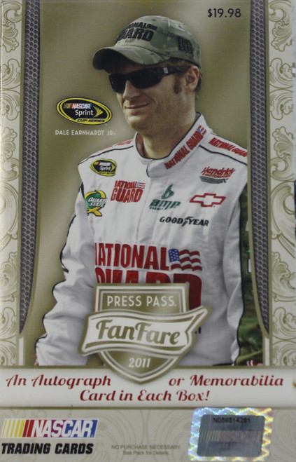 2011 Press Pass Fanfare Nascar Hanger Box