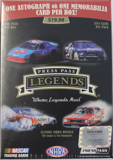 2012 Press Pass Legends Nascar (Blaster) Racing