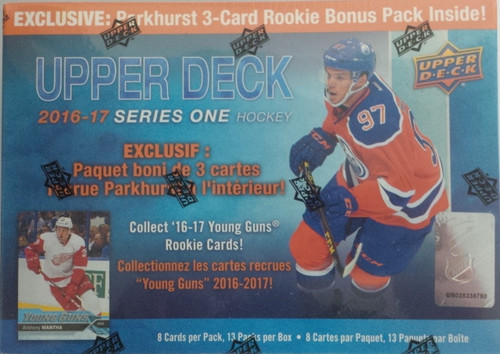 2016-17 Upper Deck Series 1 (Mega Box) w/Parkhurst 3-Card Rookie Bonus Pack Hockey