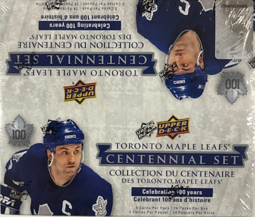 2017-18 Upper Deck Toronto Maple Leafs Centennial Set Hockey Retail Box