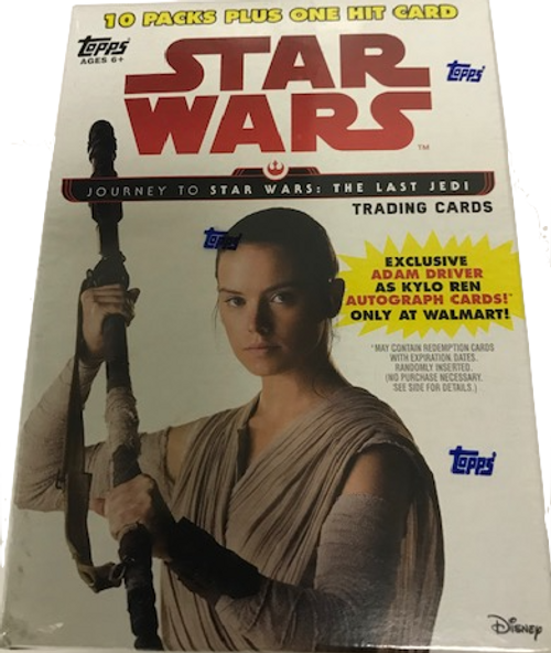 2017 Topps Star Wars Journey to the Last Jedi Blaster Box - Walmart Exclusive