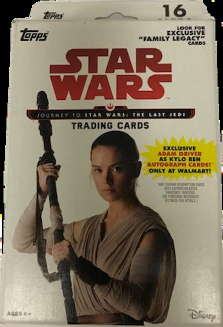 2017 Topps Star Wars Journey to the Last Jedi (Hanger Pack) Walmart Exclusive
