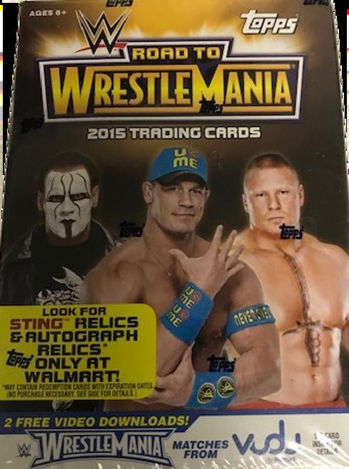 2015 Topps WWE Road to Wrestlemania Wrestling (Blaster) Walmart Exclusive