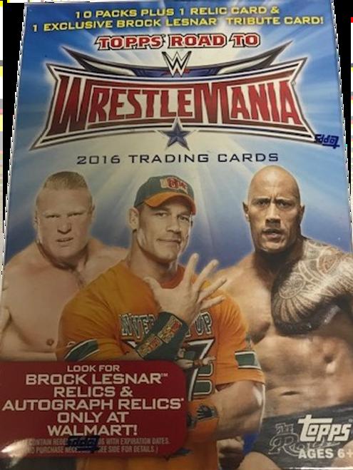2016 Topps WWE Road to Wrestlemania Wrestling (Blaster) Walmart Exclusive