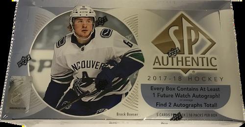 2017-18 Upper Deck SP Authentic Hockey Hobby Box