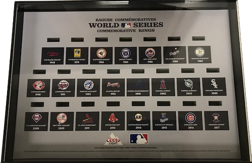 2018 Coors Light MLB Commemorative Ring Set DISPLAY CASE (No rings)