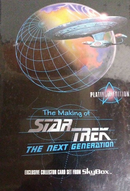 1994 SkyBox Making of Star Trek The Next Generation Platinum Edition Card Set