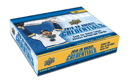 2019-20 Upper Deck Credentials Hockey Hobby Box