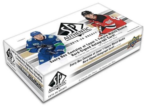 2019-20 Upper Deck SP Authentic Hockey Hobby Box