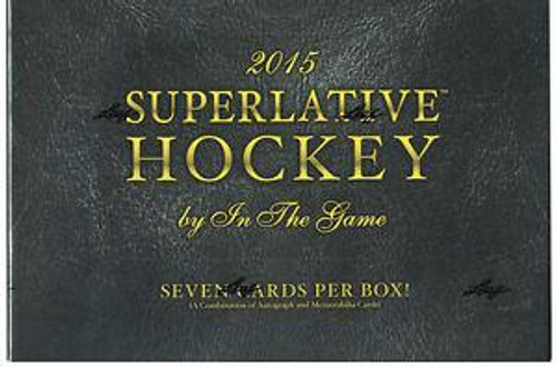 2015-16 Leaf In The Game Superlative Hockey Hobby Box