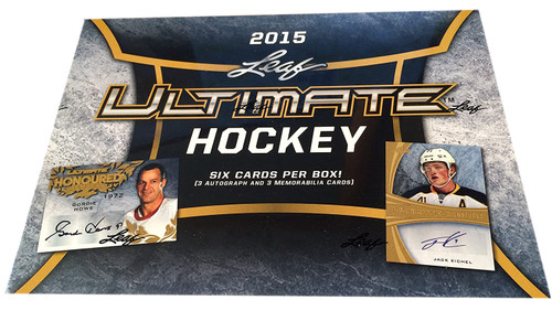 2015-16 Leaf In The Game Ultimate Hockey Hobby Box