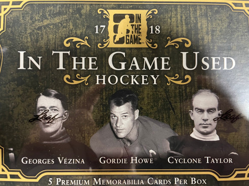 2017-18 Leaf In The Game Used Hockey Hobby Box