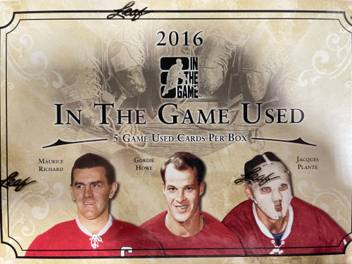 2016 Leaf In The Game Used Hockey Hobby Box