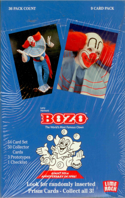 1994 Limerock Bozo The World's Most Famous Clown Trading Card Box