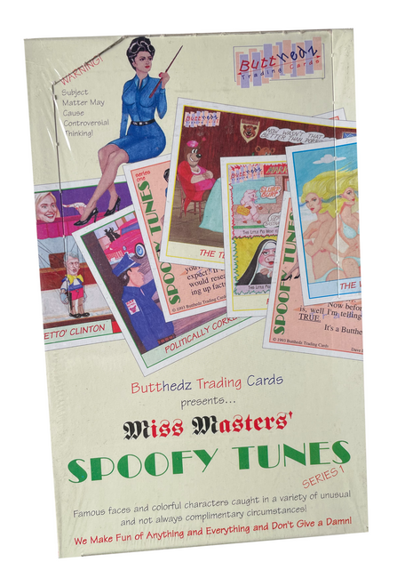 1993 Butthedz Miss Masters' Spoofy Tunes Series 1 Trading Card Box