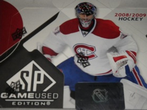 2008-09 Upper Deck SP Game Used Hockey Hobby Box