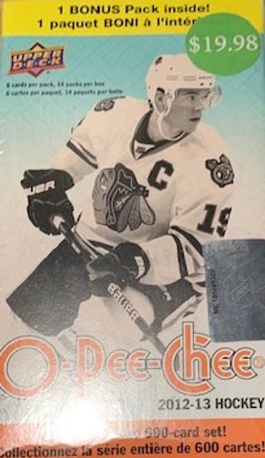 2012-13 Upper Deck O Pee Chee Hockey Blaster Box
