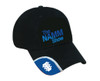 Black Cotton Twill 6 Panel Adjustable Hat