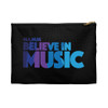 Black Cosmetic/Accessory Zippered Pouch