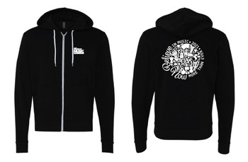 "Unisex Black ""Believe in Music 2021"" Zip Hoodie"