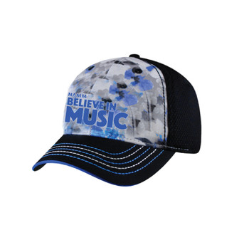 """Believe in Music"" 3D Embroidered Sublimated Adjustable Hat"