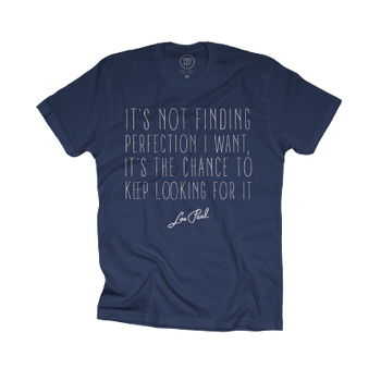"Les Paul ""It's Not Finding Perfection I Want..."" Indigo Tee"